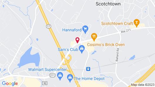 Super 8 by Wyndham Middletown Map