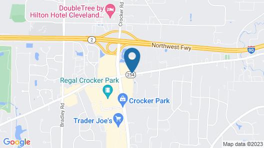 Hampton Inn Cleveland Westlake Map