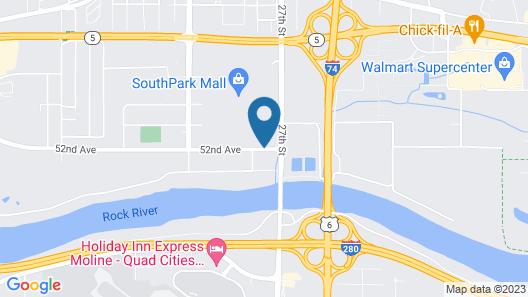 Motel 6 Moline, IL Map