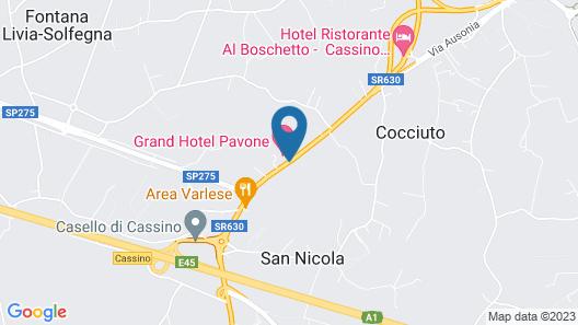 Grand Hotel Pavone Map