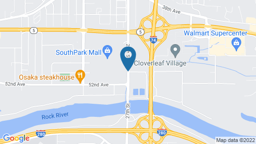 AmericInn by Wyndham Moline Airport/Quad Cities Map