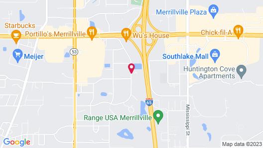 Baymont by Wyndham Merrillville Map