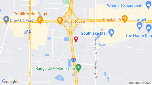 Candlewood Suites Merrillville, an IHG Hotel Map