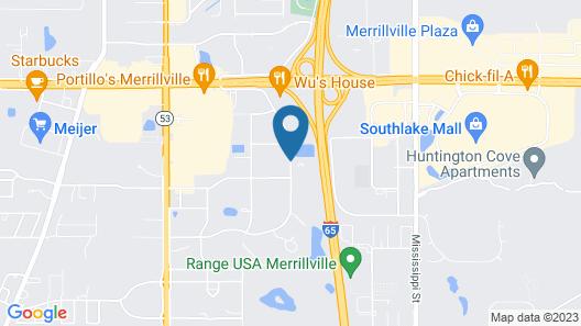 Hampton Inn by Hilton Merrillville Map