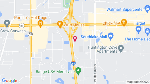 Extended Stay America Suites Merrillville US Rte 30 Map