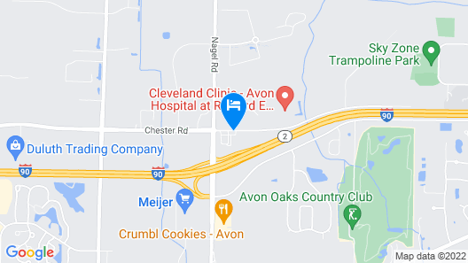 Residence Inn Cleveland Avon at The Emerald Event Center Map