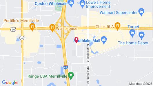 Super 8 by Wyndham Merrillville Map
