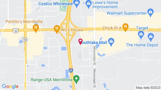 Comfort Suites Merrillville Map