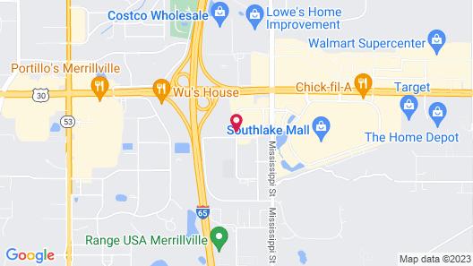 Motel 6 Merrillville, IN Map