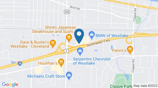 Courtyard Cleveland Westlake Map