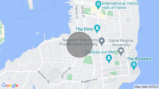 Downtown Newport Penthouse on Thames Street Map