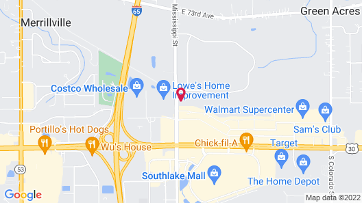 Hilton Garden Inn Merrillville Map