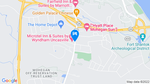 Microtel Inn & Suites by Wyndham Uncasville Map