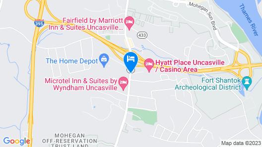 Hyatt Place Mohegan Sun Map