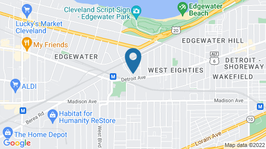 JARVIS West Blvd 6BD Villa by Edgewater Park Downtown Map