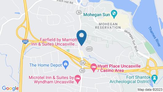 Fairfield by Marriott Inn & Suites Uncasville Groton Area Map