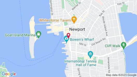The Newport Harbor Hotel & Marina Map