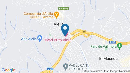 Hotel Arrey-Alella Map