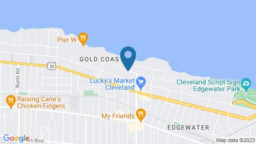 Travelodge by Wyndham Cleveland Lakewood Map