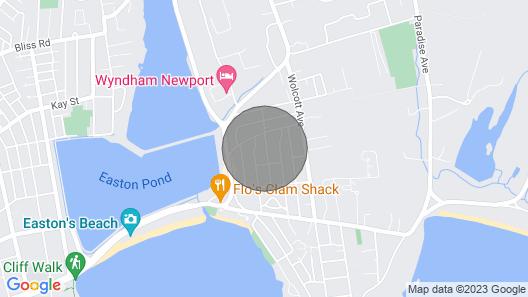 Charming Newport RI Cottage Near Beaches! Walk to Beach! Pets Considered! Map