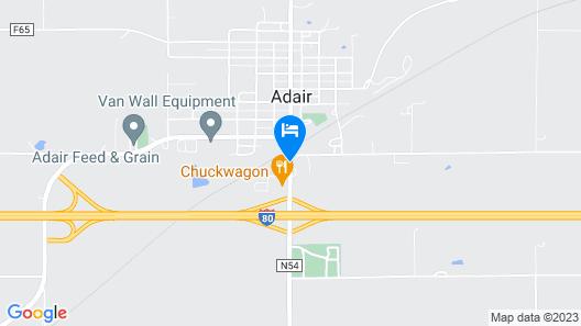 Adair Budget Inn Map