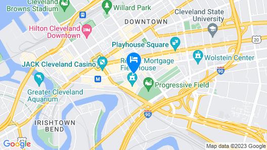 Hotel Indigo Cleveland Downtown, an IHG Hotel Map