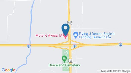 Motel 6 Avoca, IA Map