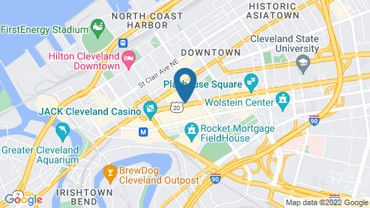 Holiday Inn Express Cleveland Downtown Map