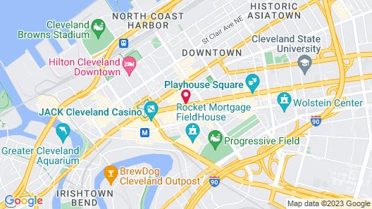 Holiday Inn Express Cleveland Downtown, an IHG Hotel Map