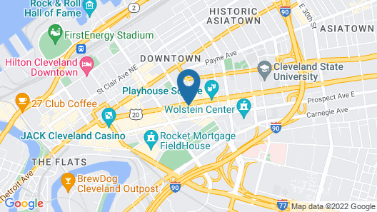 Crowne Plaza Cleveland at Playhouse Square, an IHG Hotel Map