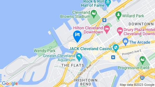 Aloft Cleveland Downtown Map