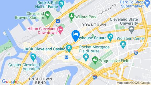 Hyatt Regency Cleveland At The Arcade Map
