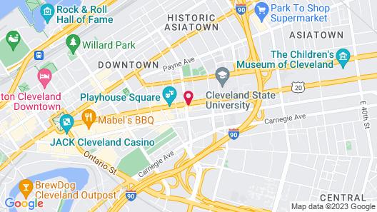Comfort Inn Downtown Map