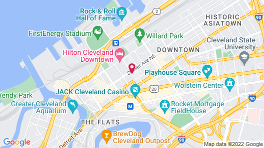 Cleveland Marriott Downtown at Key Tower Map