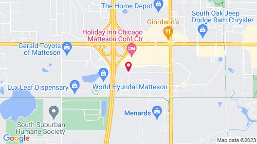 Comfort Inn Matteson - Chicago Map