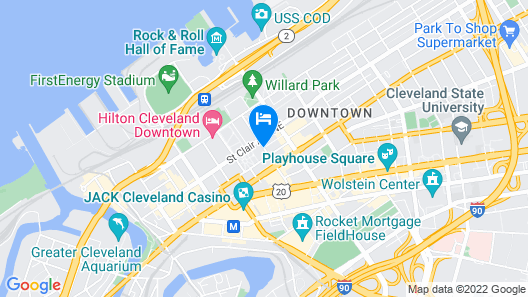 Drury Plaza Hotel Cleveland Downtown Map