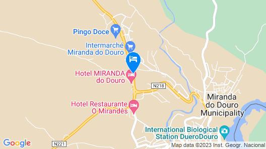 Hotel Miranda do Douro D. Joao III Map