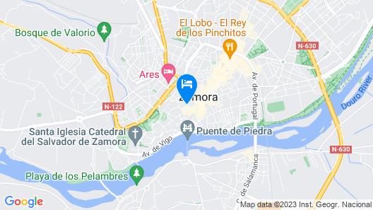 Parador de Zamora Map