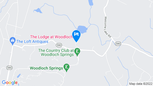 The Lodge At Woodloch Map