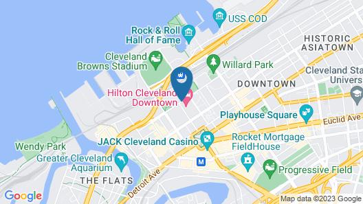 Hilton Cleveland Downtown Map