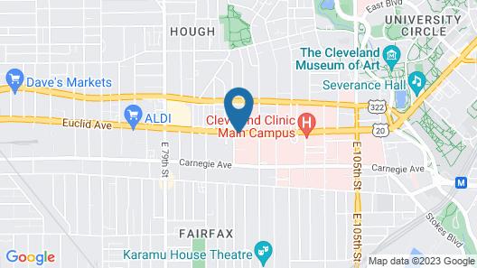Holiday Inn Cleveland Clinic, an IHG Hotel Map