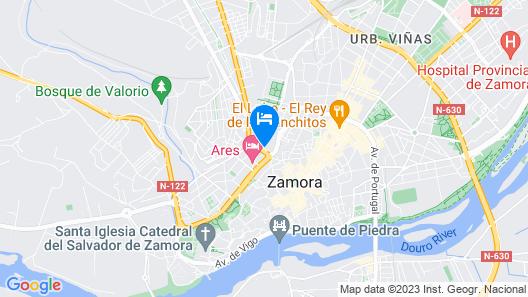 Hotel Doña Urraca Map