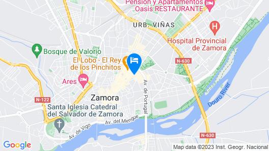 Hotel Zenit Dos Infantas Map