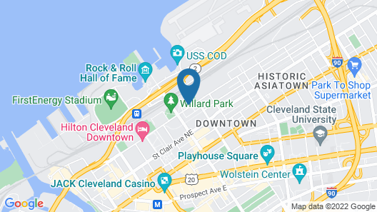 DoubleTree by Hilton Cleveland Downtown - Lakeside Map