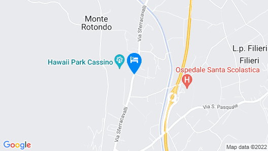 Best Western Hotel Rocca Map