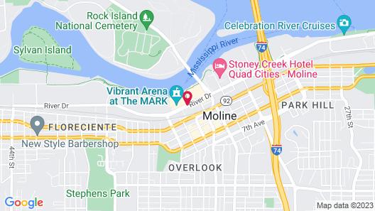 Radisson On John Deere Commons-Moline Map