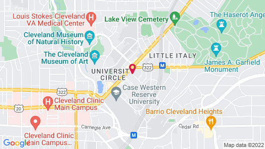 Courtyard by Marriott Cleveland University Circle Map