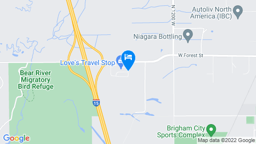 Holiday Inn Express & Suites Brigham City - North Utah Map