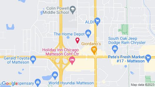 Hampton Inn & Suites Chicago Southland-Matteson Map