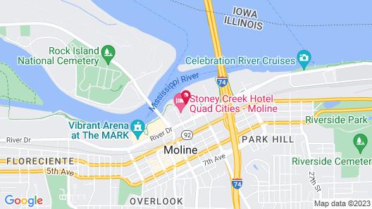 Stoney Creek Hotel Quad Cities - Moline Map